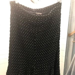 Anthro black and white midi skirt!